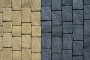 Тротуарная плитка литая. вибропресованная