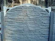 Забор бетонный, декоративный