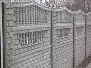 ЖБИ панели ограждения,  фундамент железобетонных панелей